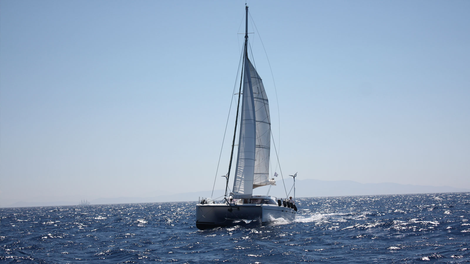 Catamaran Pluto - Nautitech 47 sailing in Greece, Ionian Sea