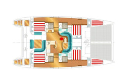 Interior Layout of Pluto, Nautitech 47 Catamaran
