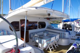 Pluto, Nautitech 47 Catamaran - Large outside area