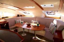 Interior of Nautitech 47 catamaran