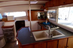 Kitchen of Catamaran Pluto