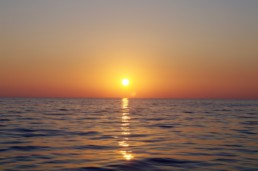 Sunset in the ionian sea